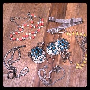 Accessories - Variety of silver chain belts